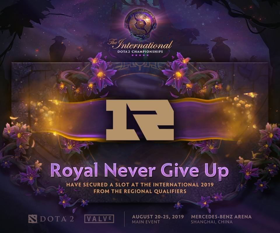 Royal Never Give Up Dota 2 The International