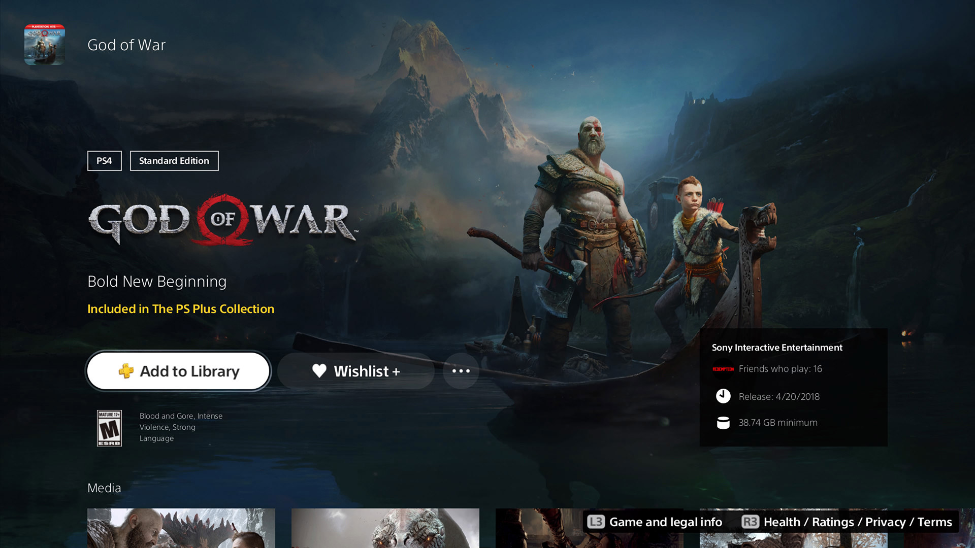 God of War Add to Playstation Plus collection
