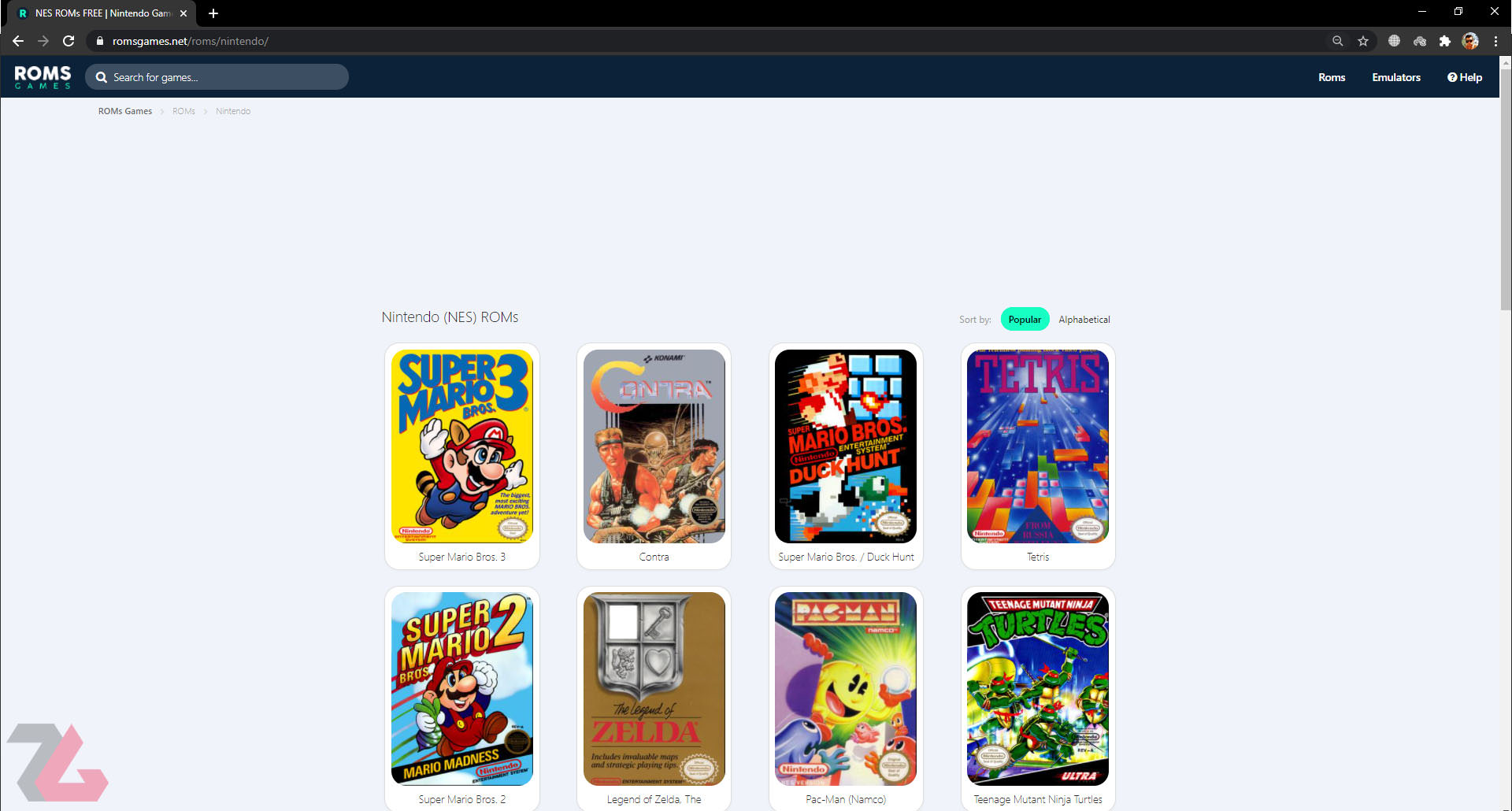 Old game ROM download site