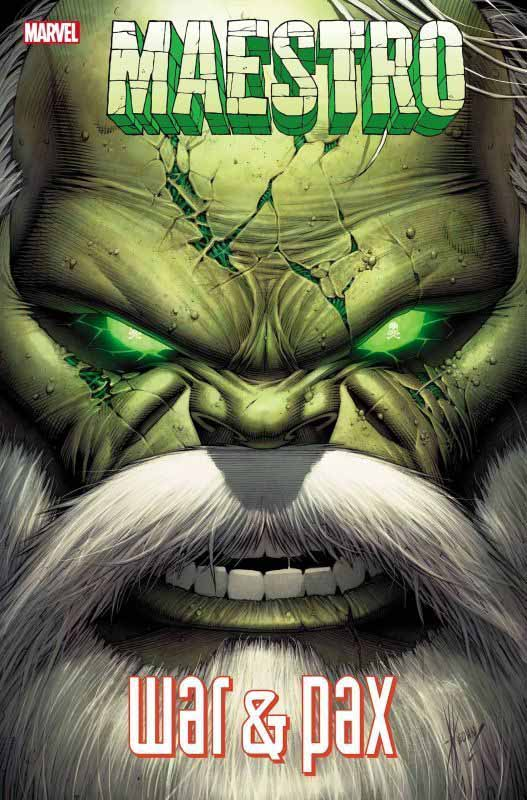 The angry face of Maestro on the cover of the Maestro: War and Pax comic book series
