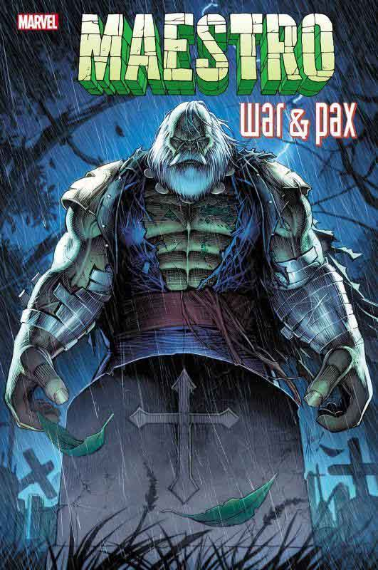 Maestro Character in the Cemetery in the comic book series Maestro: War and Pax