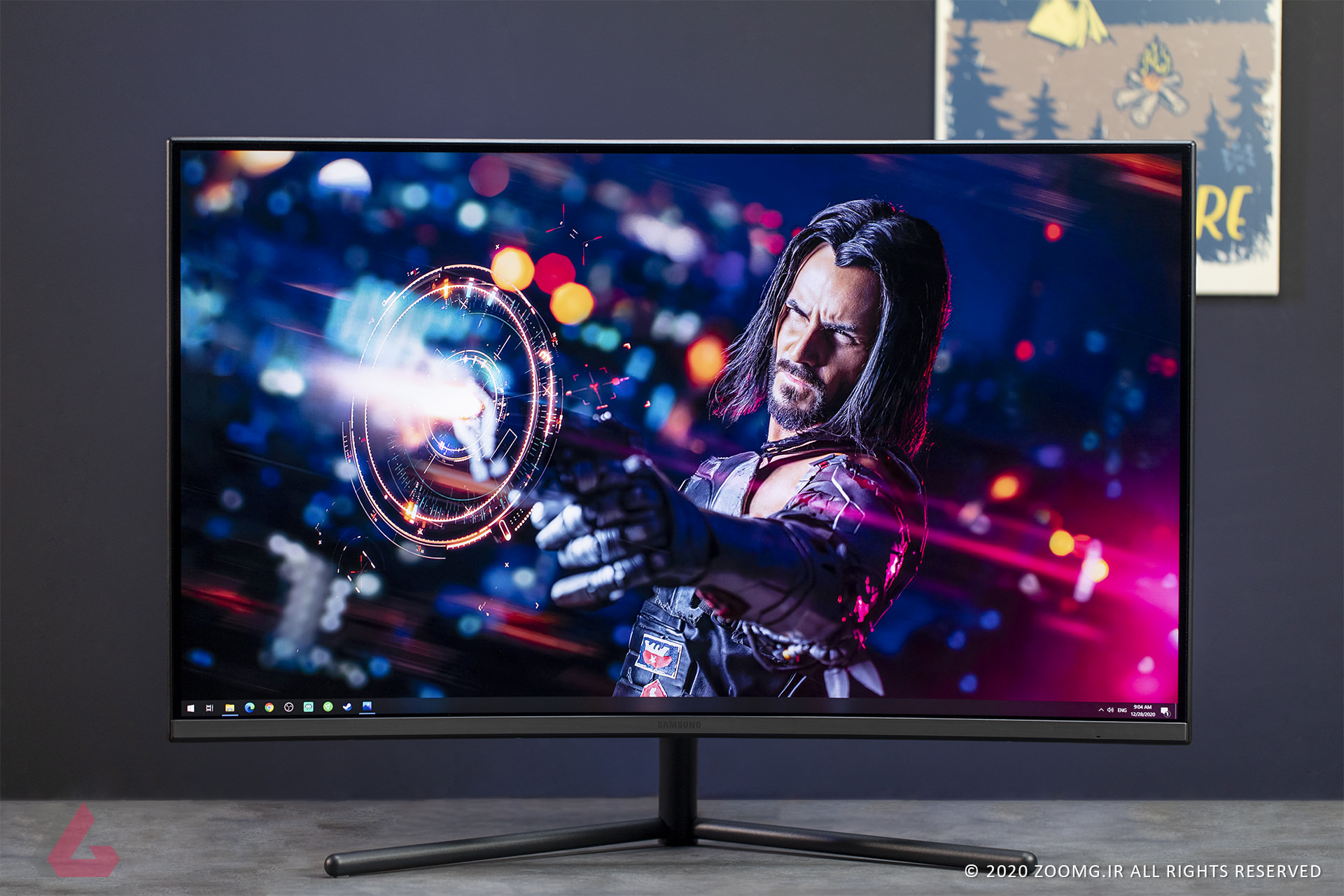 Picture of the Samsung UR59C monitor overview