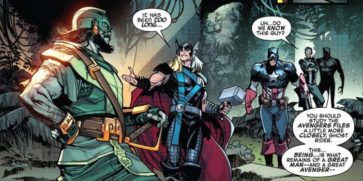ثور - کاپیتان آمریکا - بلک پنتر - گوست رایدر در کمیک Empyre: Avengers