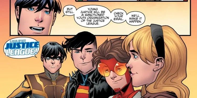superboy and other members of young justice