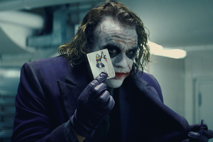 هیث لجر در فیلم the dark knight