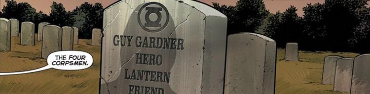 مرگ گای گاردنر در کمیک ویژه شرکت دی سی کامیکس - ارتش گرین لنترن