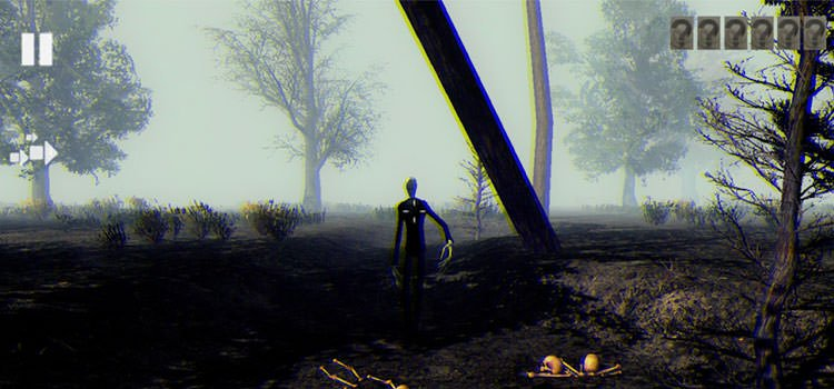 Slender Man Dark Forest