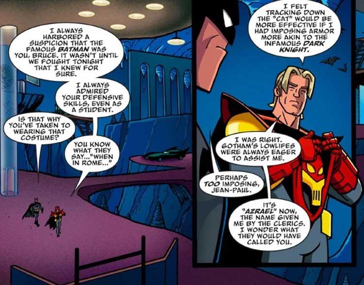 فاش شدن رازی از گذشته بروس وین/بتمن توسط ازرائیل در کتاب کمیک Batman: The Adventures Continue
