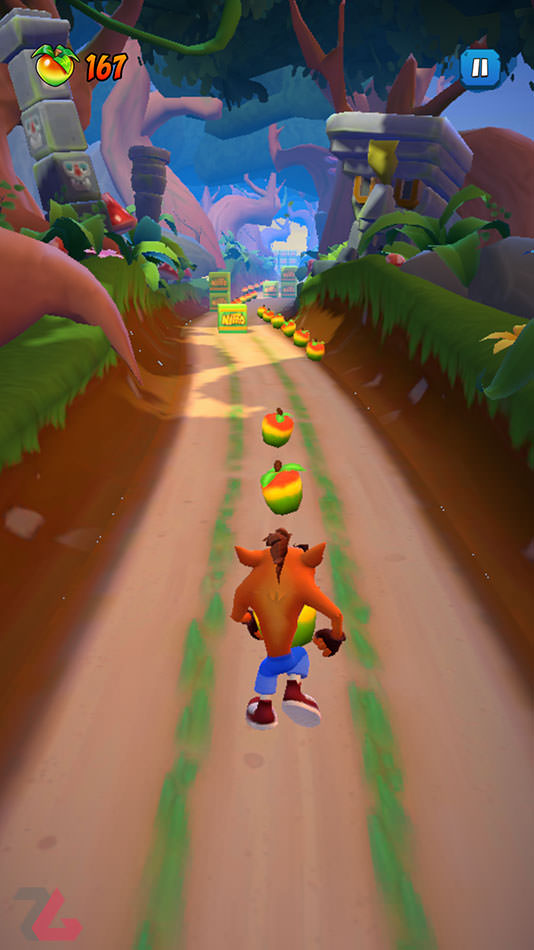 گیم‌ پلی بازی Crash Bandicoot Mobile