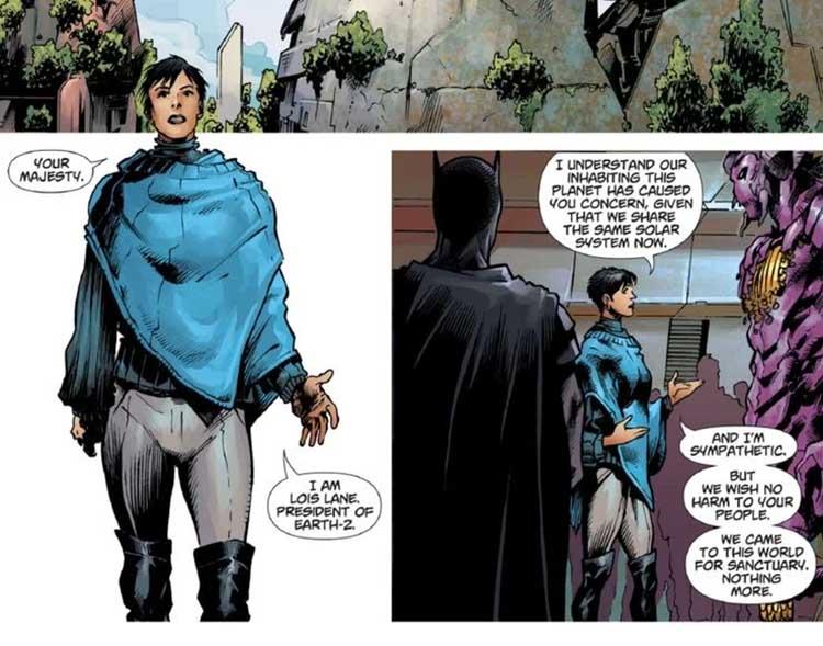 تبدیل شدن لوئیس لین به رئیس جمهور زمین ۲ در سری کتاب کمیک DCeased: Dead Planet