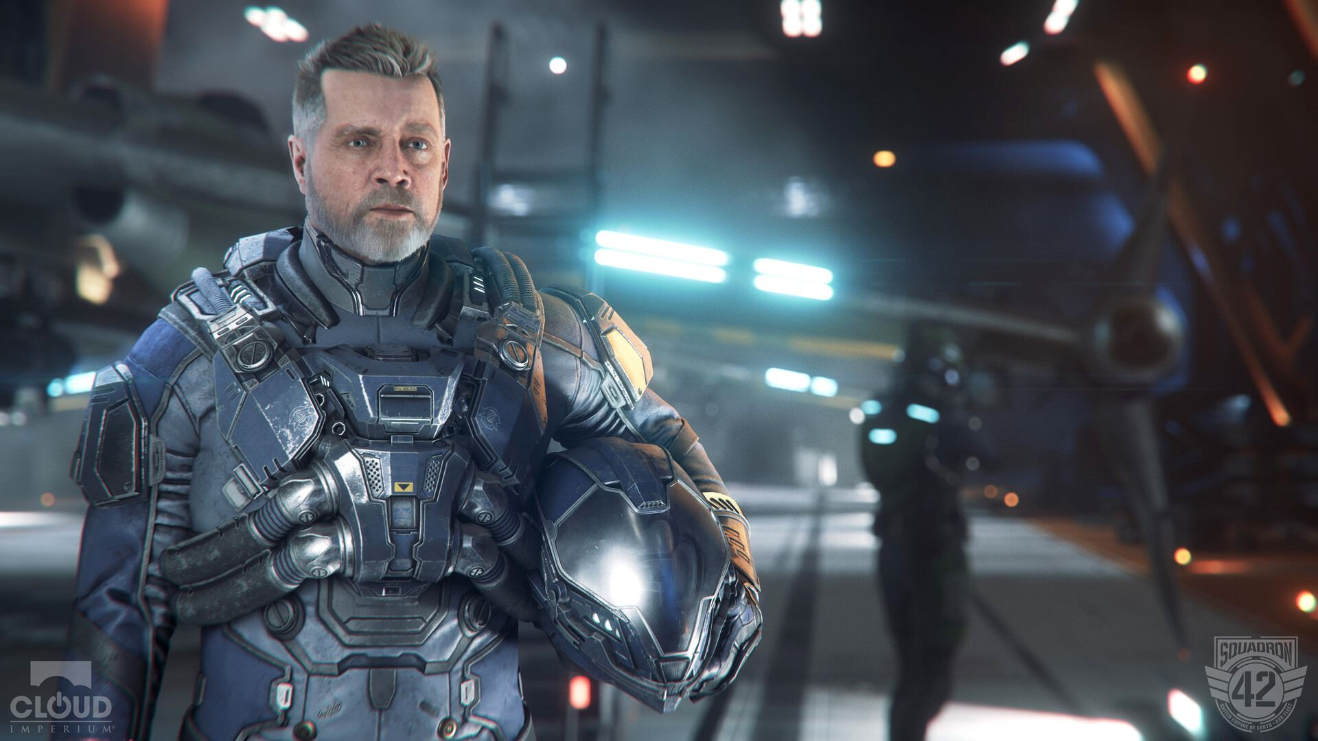 One of the characters in Squadron 42 is the Star Citizen single