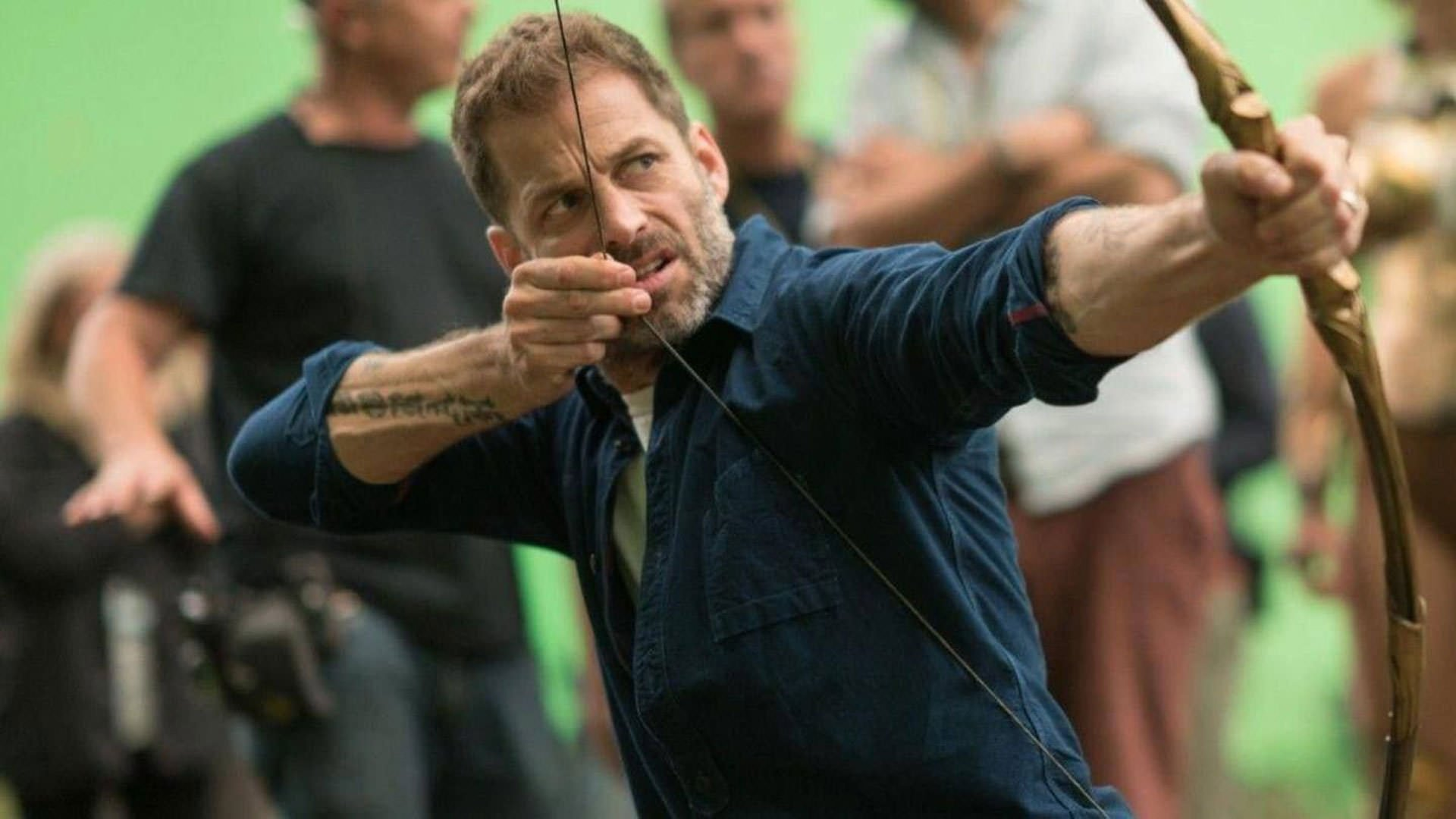 Zack Snyder is pulling a bow behind the scenes of the film