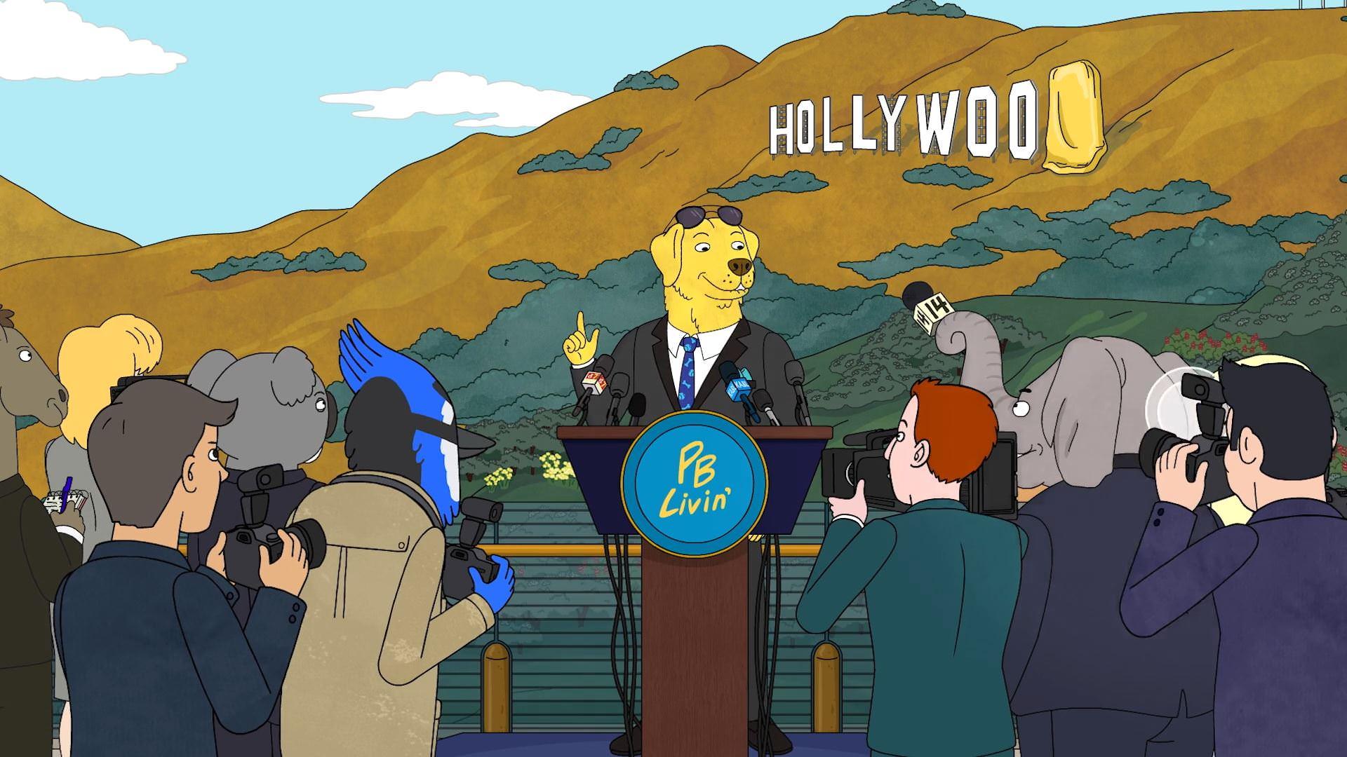 مستر پینات باتر از لوگوی هالیوود رونمایی میکند  بوجک هورسمن