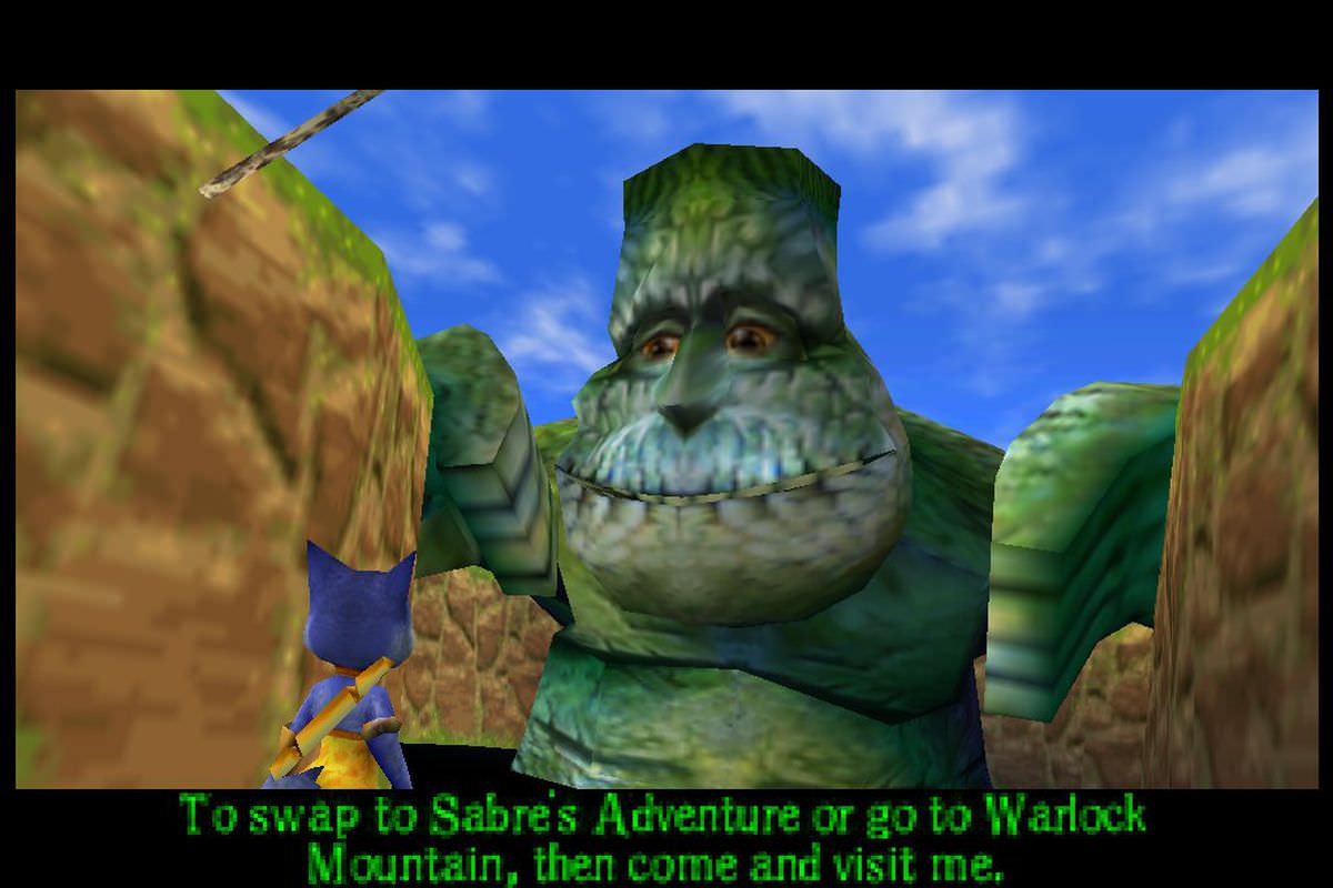 نمایی از بازی Dinosaur Planet