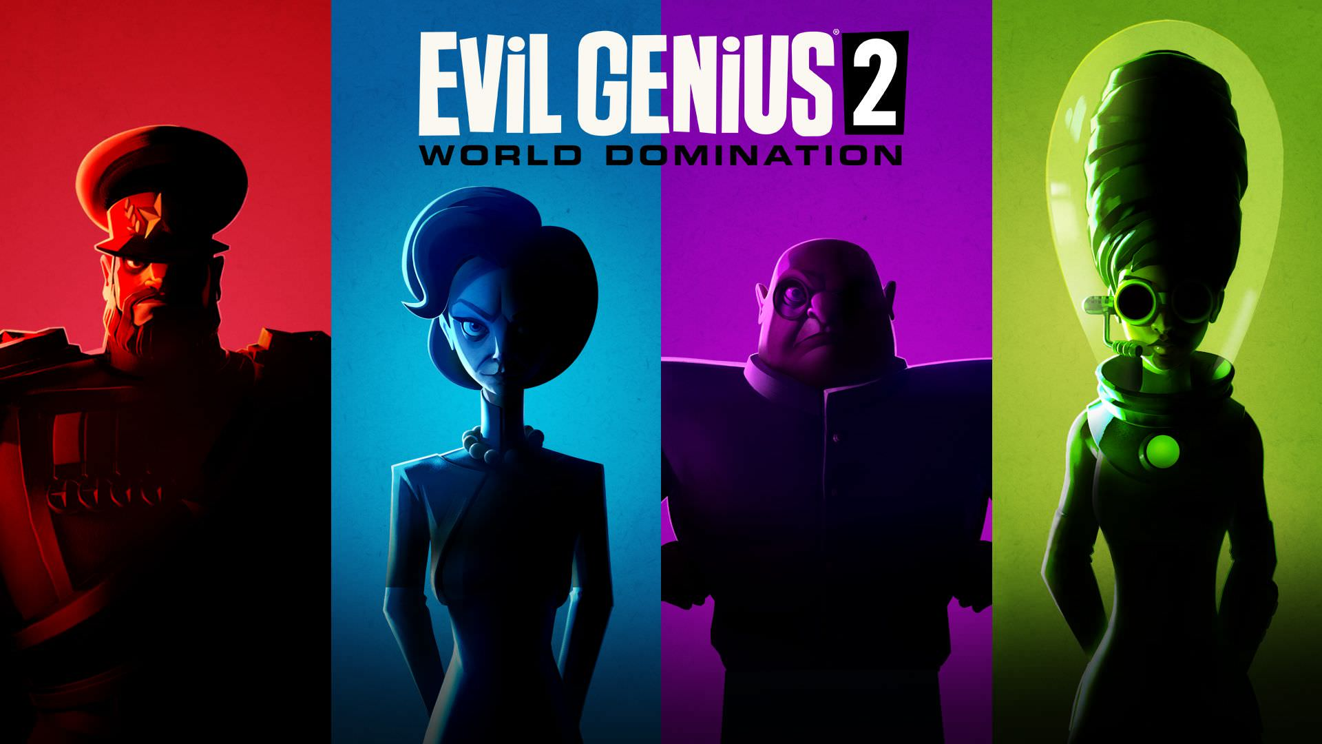 چهار شخصیت شرور بازی Evil Genius 2: World Domination