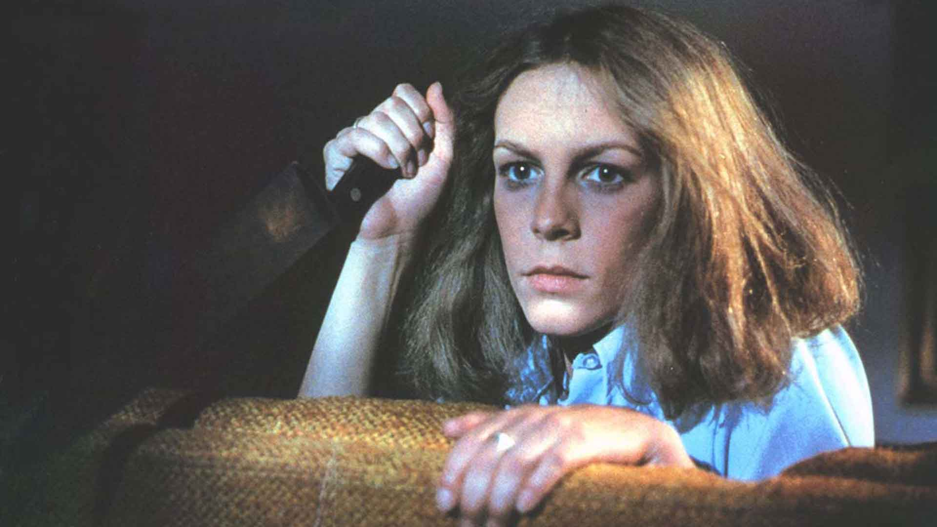 Jimmy Lee Curtis with a knife in the movie Halloween