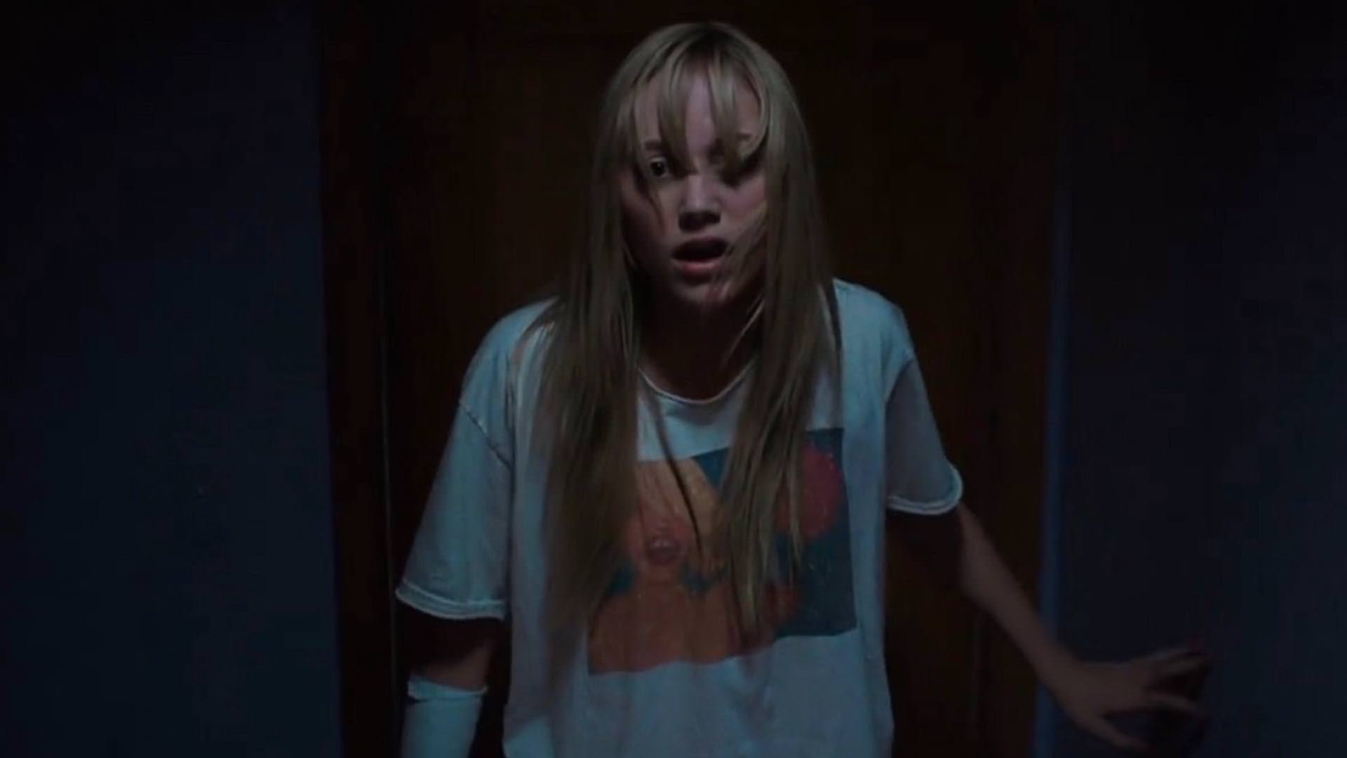 Micah Monroe in It Follows is terrified