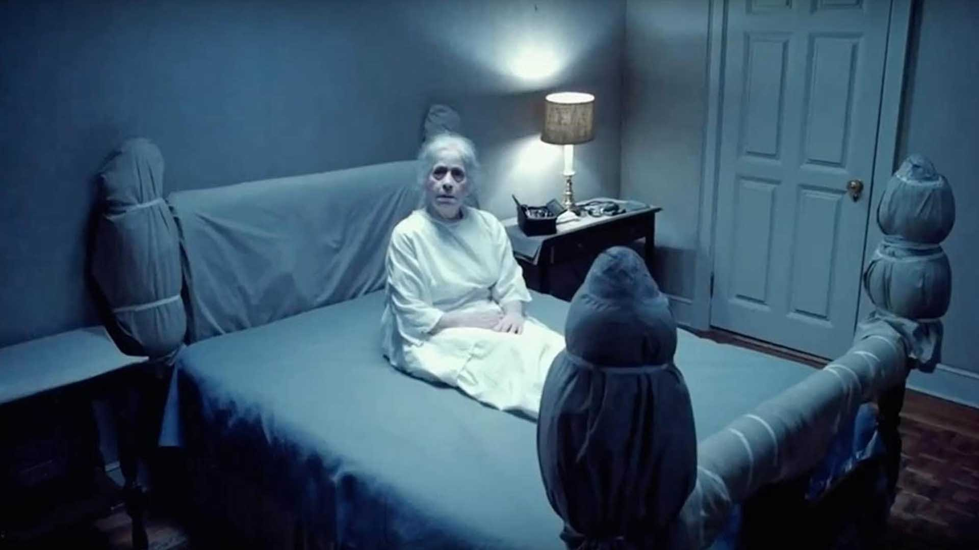 Lonely old woman on the bed in The Exorcist