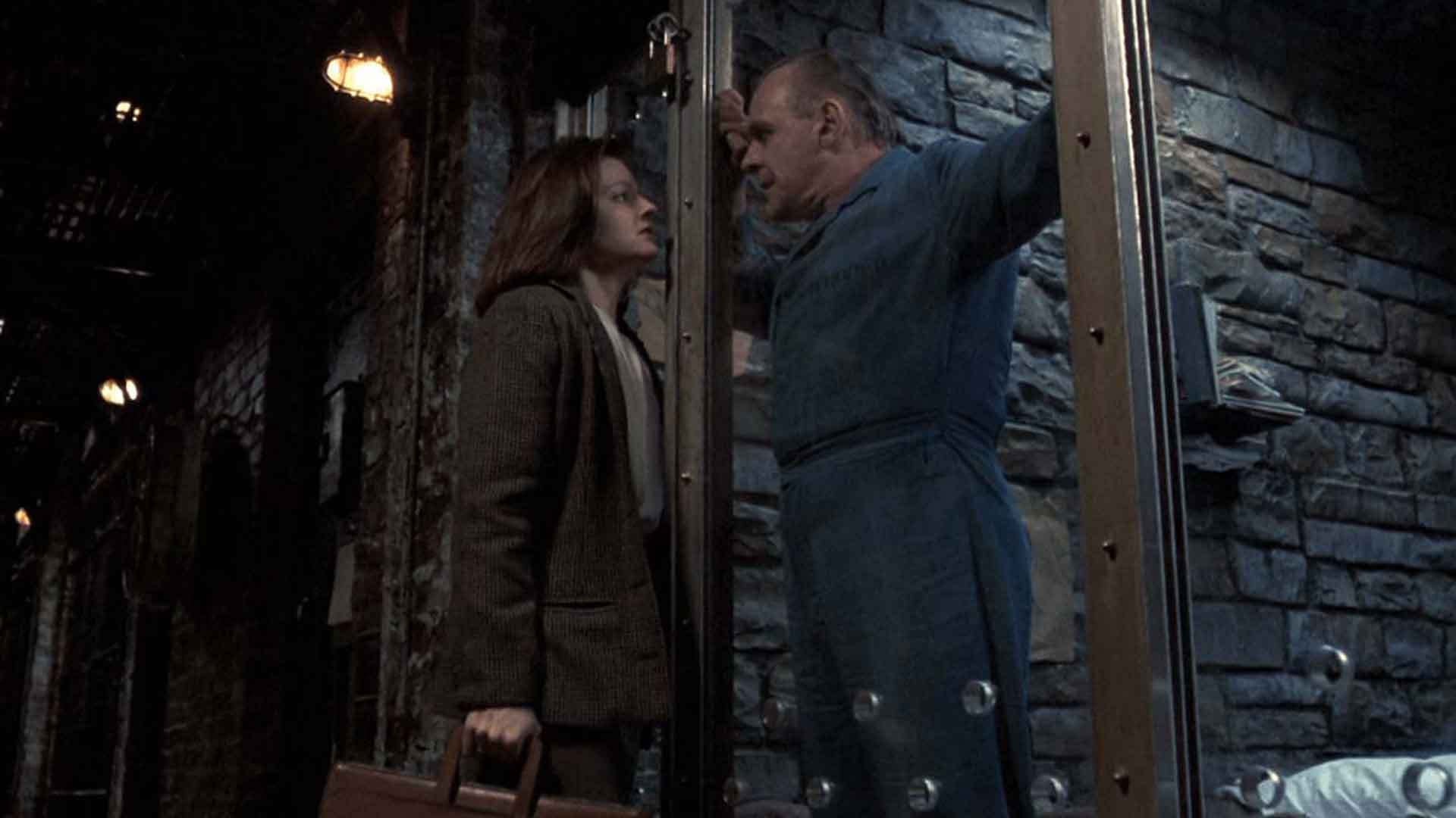 Anthony Hopkins speaks with Judy Foster in The Silence of the Lambs
