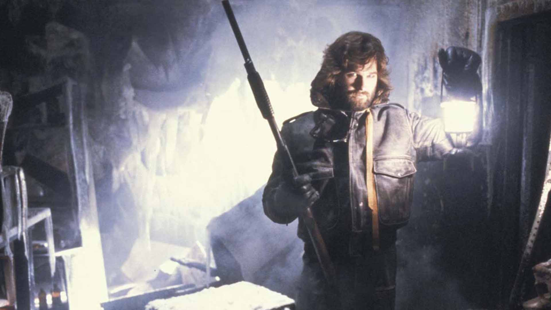 Kurt Russell with a light in The Thing