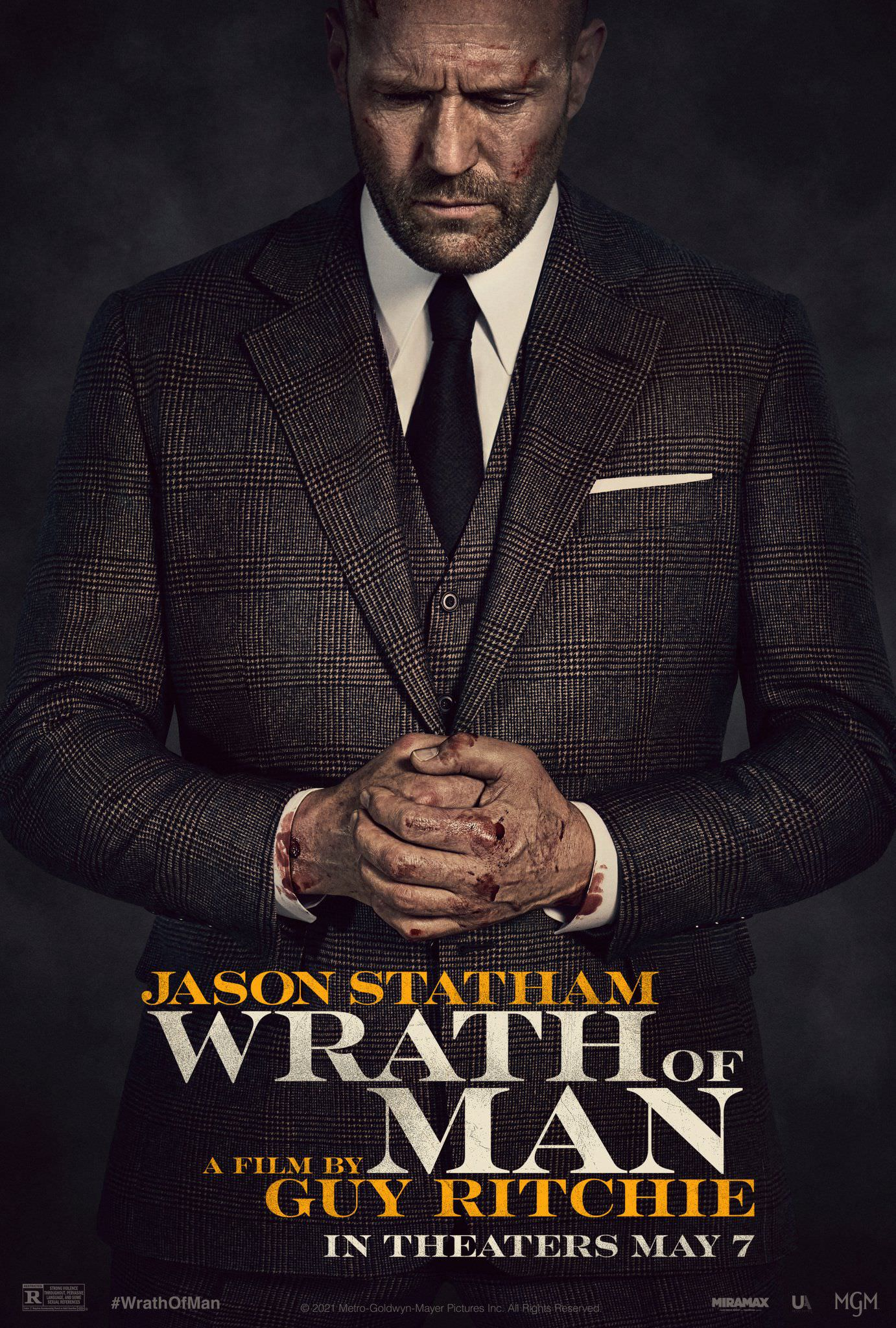 Jason Statham in the first poster of the movie Wrath of Man directed by Guy Ritchie