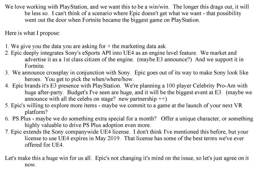 ایمیل اپیک به سونی درباره کراس پلی